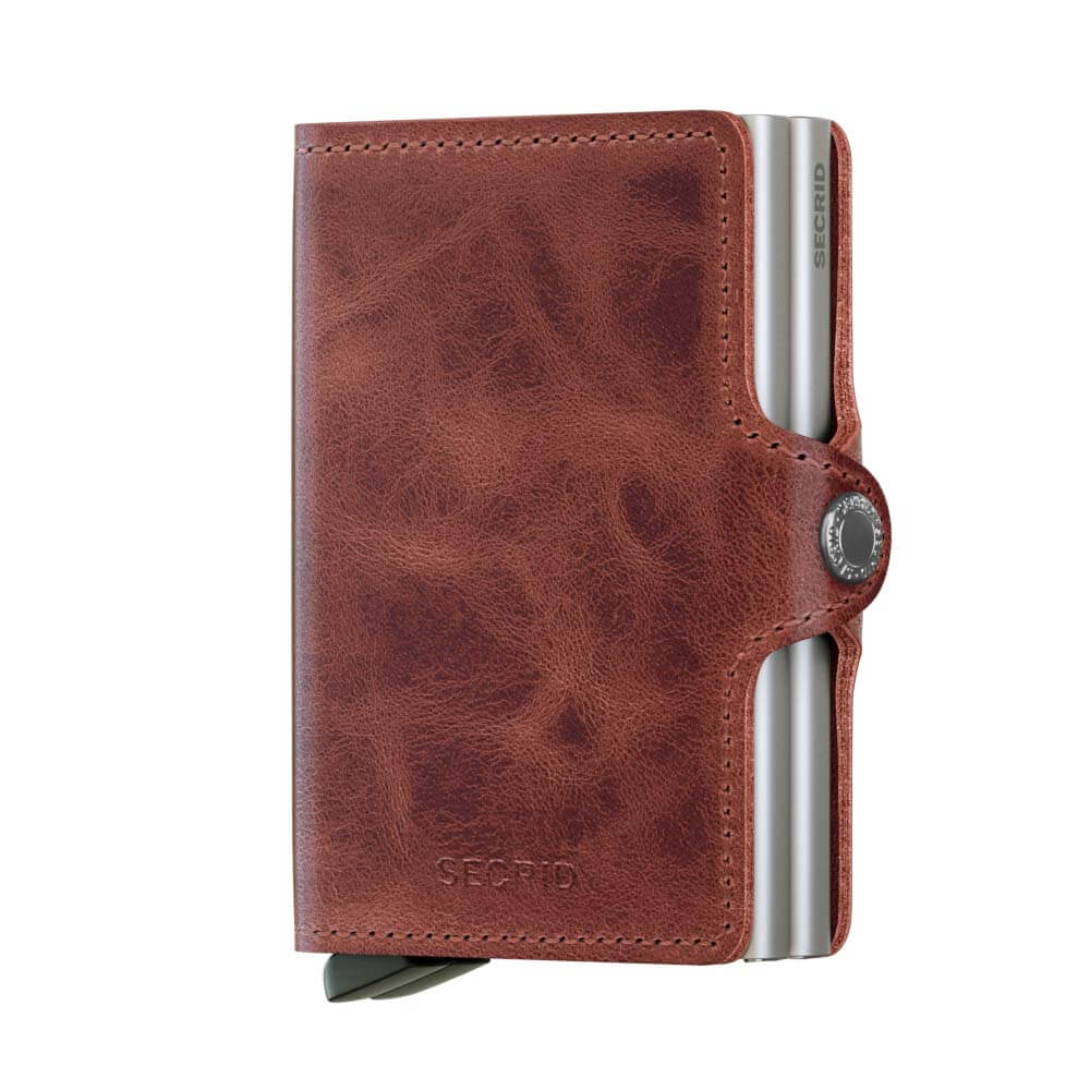 Portemonnee Veel Pasjes.Secrid Twin Wallet Portemonnee Vintage Brown Online Kopen