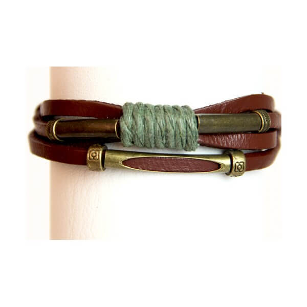 Medley Perth Bruin Met Touw Armband 349005-0