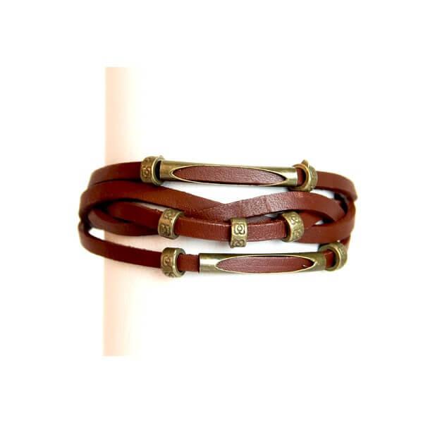 Medley Perth Bruin Met Goudkleurige Ringen Armband 349009-0