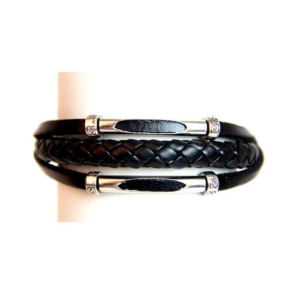 Medley Armband Perth Zwart Gevlochten 349002-0