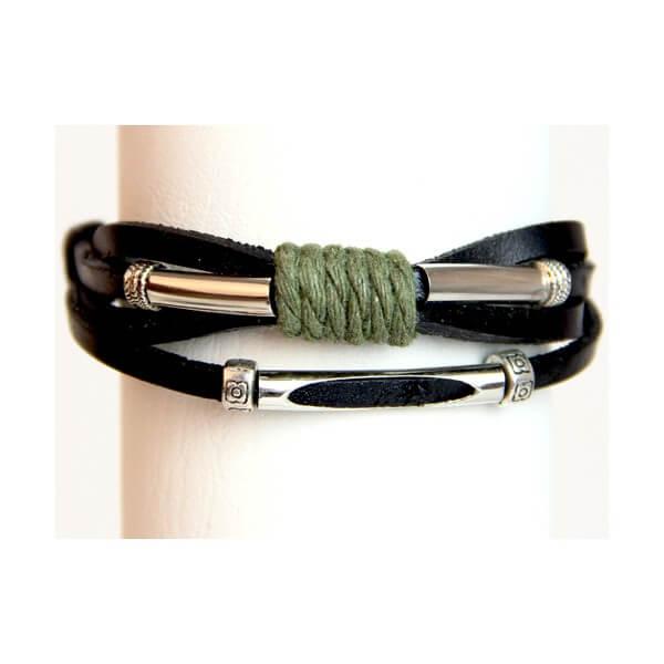 Medley Perth Zwart Met Touw Armband 349006-0