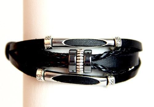Medley Perth Zwart Met Hematiet Kralen Armband 349008-0