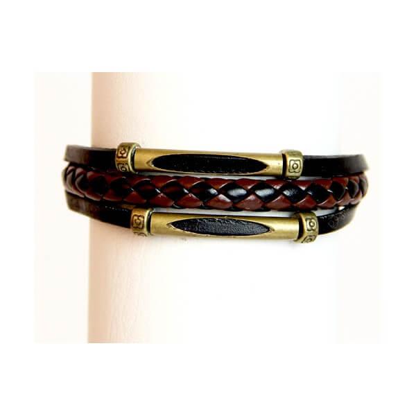 Medley Perth Zwart Gevlochten Armband 349011-0