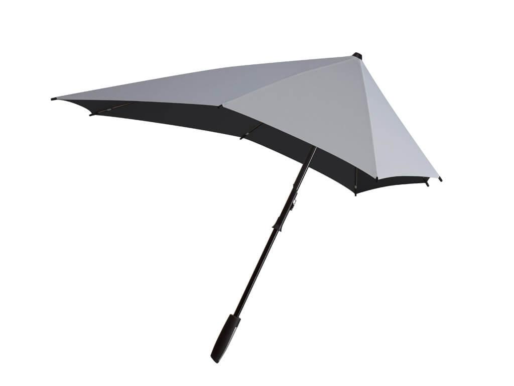 Senz Smart Line Stormparaplu Shiny Silver-0