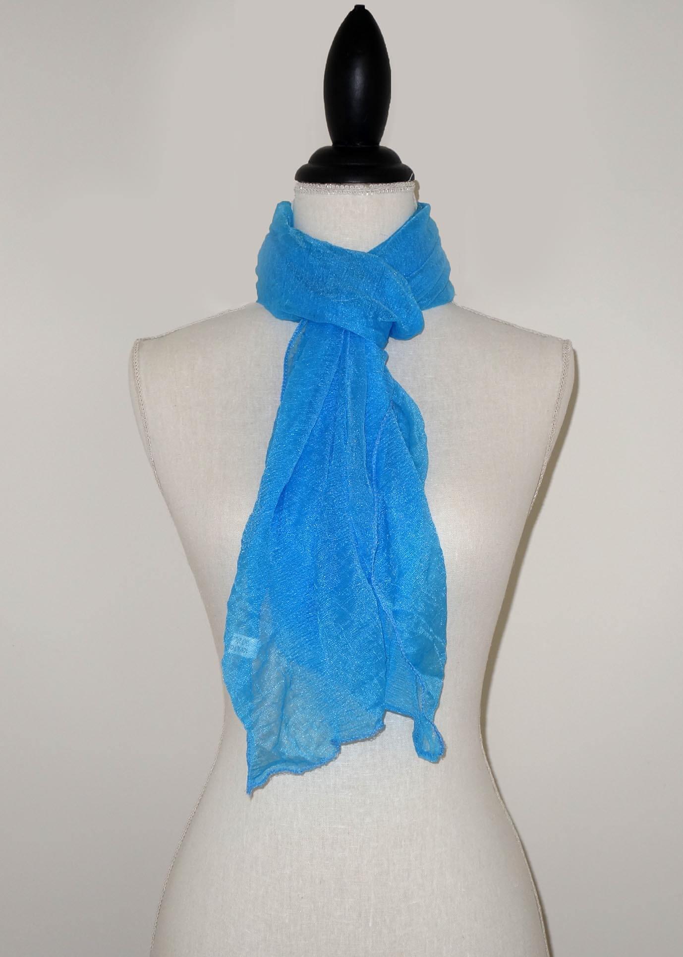 Licht Blauwe Effen Langwerpige Sjaal -0
