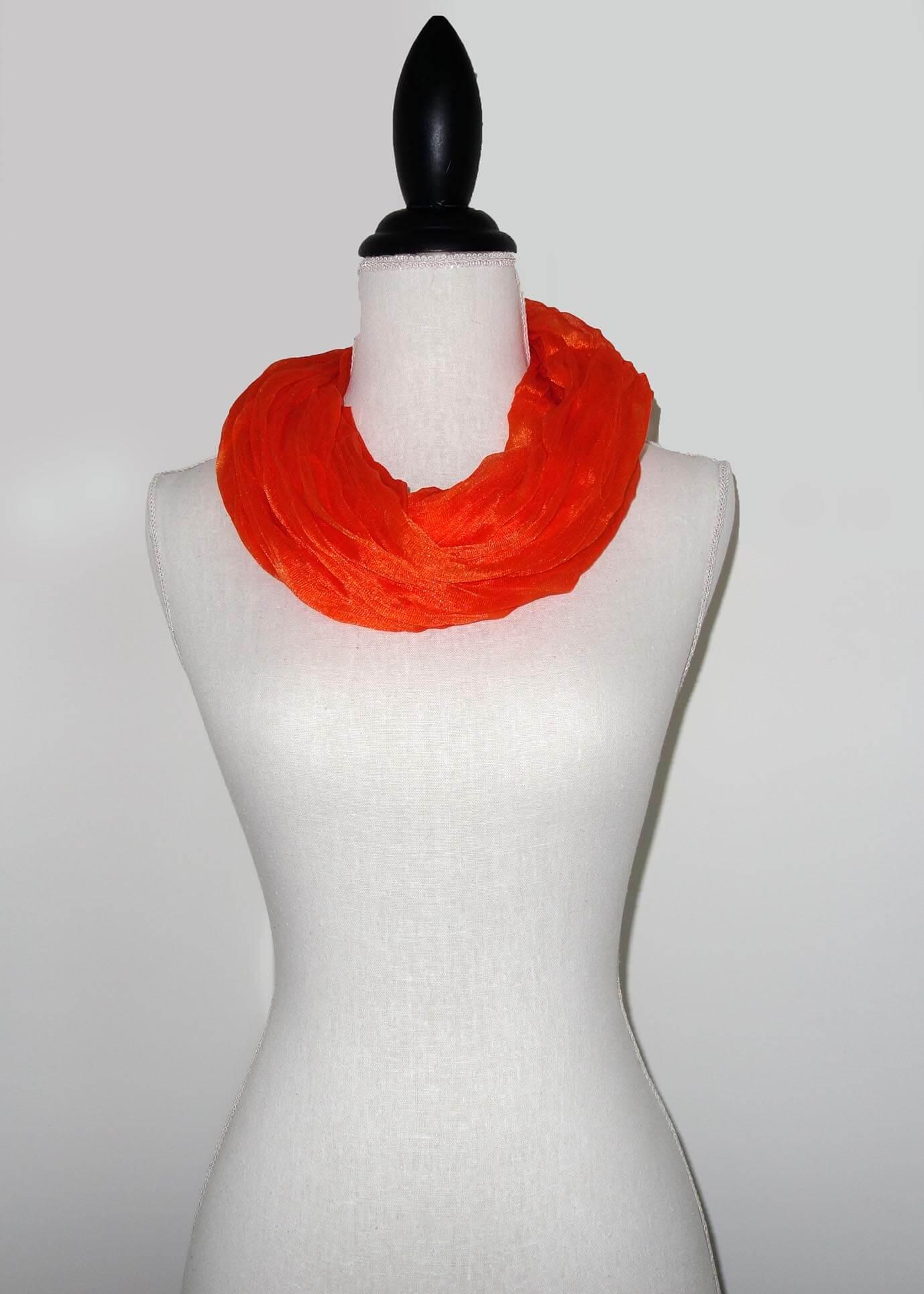 Oranje Effen Colsjaal -0
