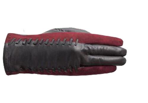 Laimböck Dames Handschoenen Forli Zwart/Rood Maat 7.5 25375-0