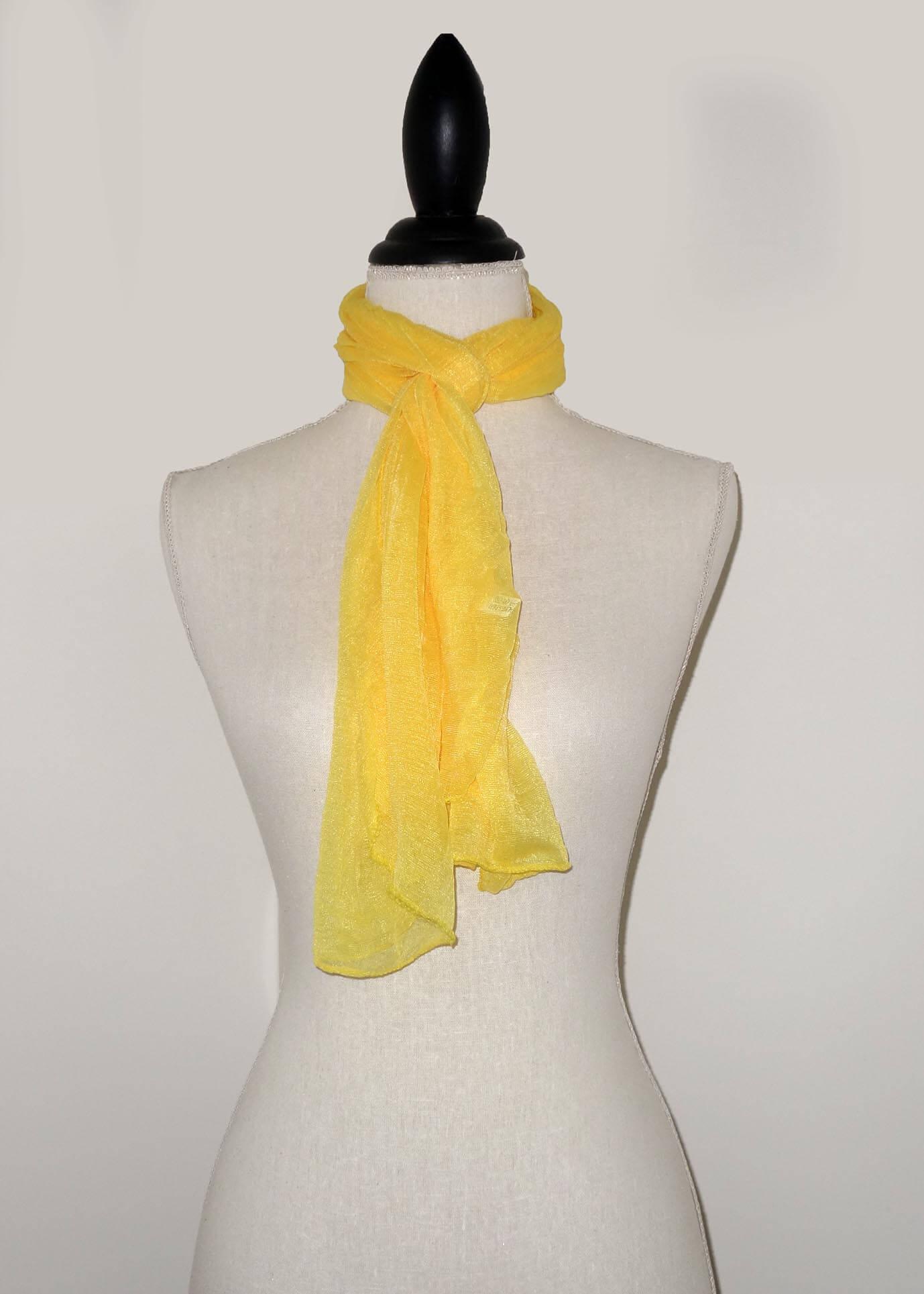 Gele Effen Langwerpige Sjaal-0