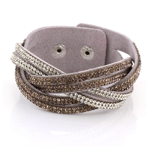 Just Crystals Armband 30-AB Mix Grijs-0