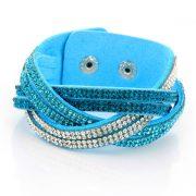 Just Crystals Armband 30-AB Mix Licht Blauw