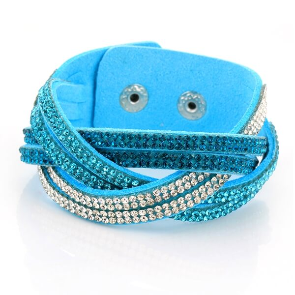 Just Crystals Armband 30-AB Mix Licht Blauw-0