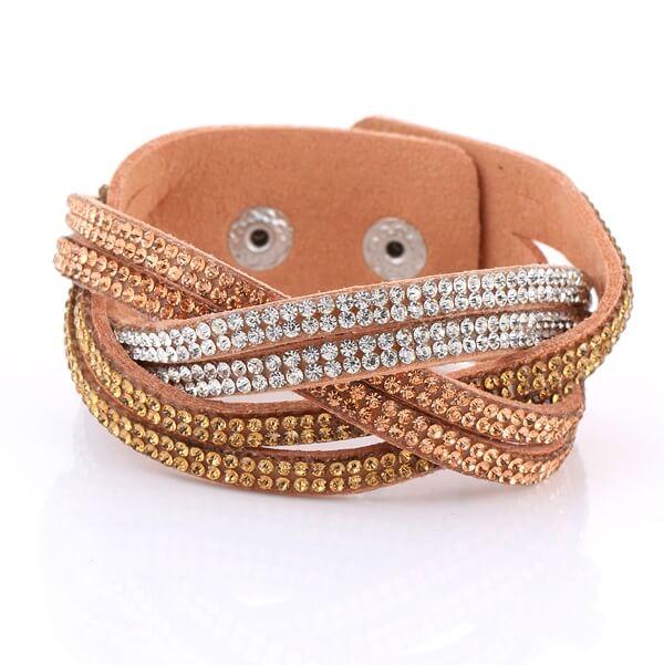 Just Crystals Armband 30-AB Bruin-0