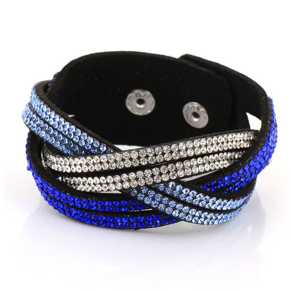 Just Crystals Armband 30-AB Mix Blauw-0