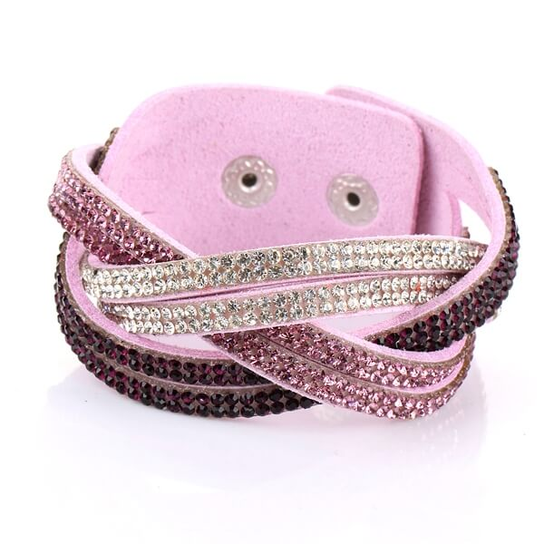 Just Crystals Armband 30-AB Roze-0