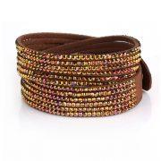 Just Crystals Armband 4-AB Bruin
