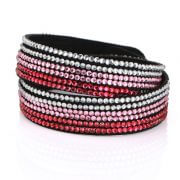 Just Crystals Armband 4-AB Mix Roze