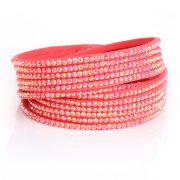 Just Crystals Armband 4-AB Roze