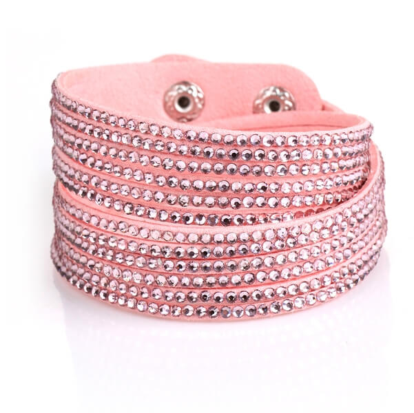 Just Crystals Armband 4-AB Licht Roze-0