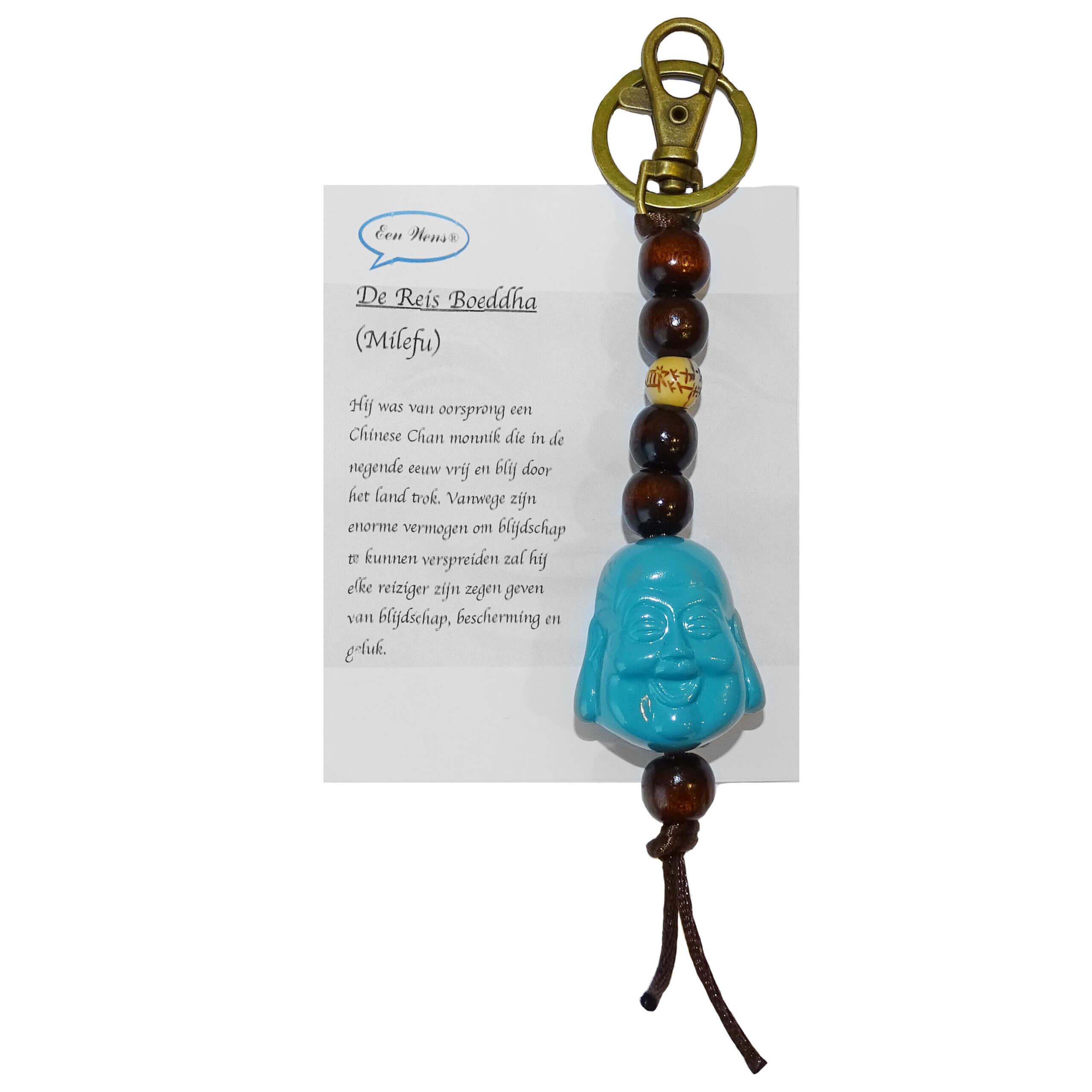 De Reis Boeddha Sleutelhanger Turquoise