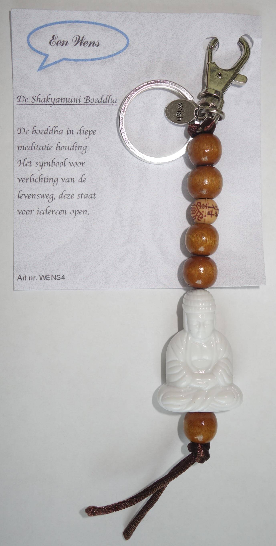 De Shakyamuni Boeddha Sleutelhanger WIt-0