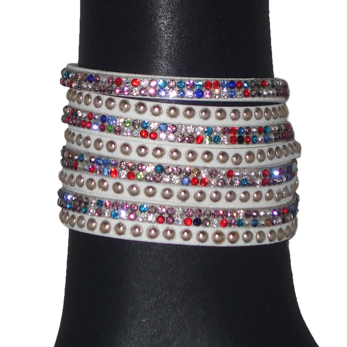 Wikkelarmband Wit Multicolour-0