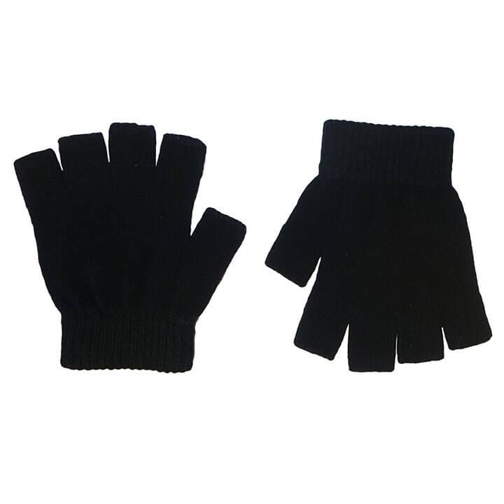 Zwarte Vingerloze Handschoenen