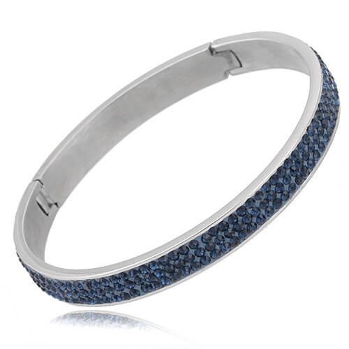Just Crystals Edelstaal Armband 28-AB Donker Blauw-0