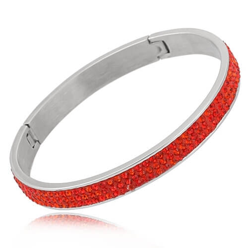 Just Crystals Edelstaal Armband 28-AB Rood-0