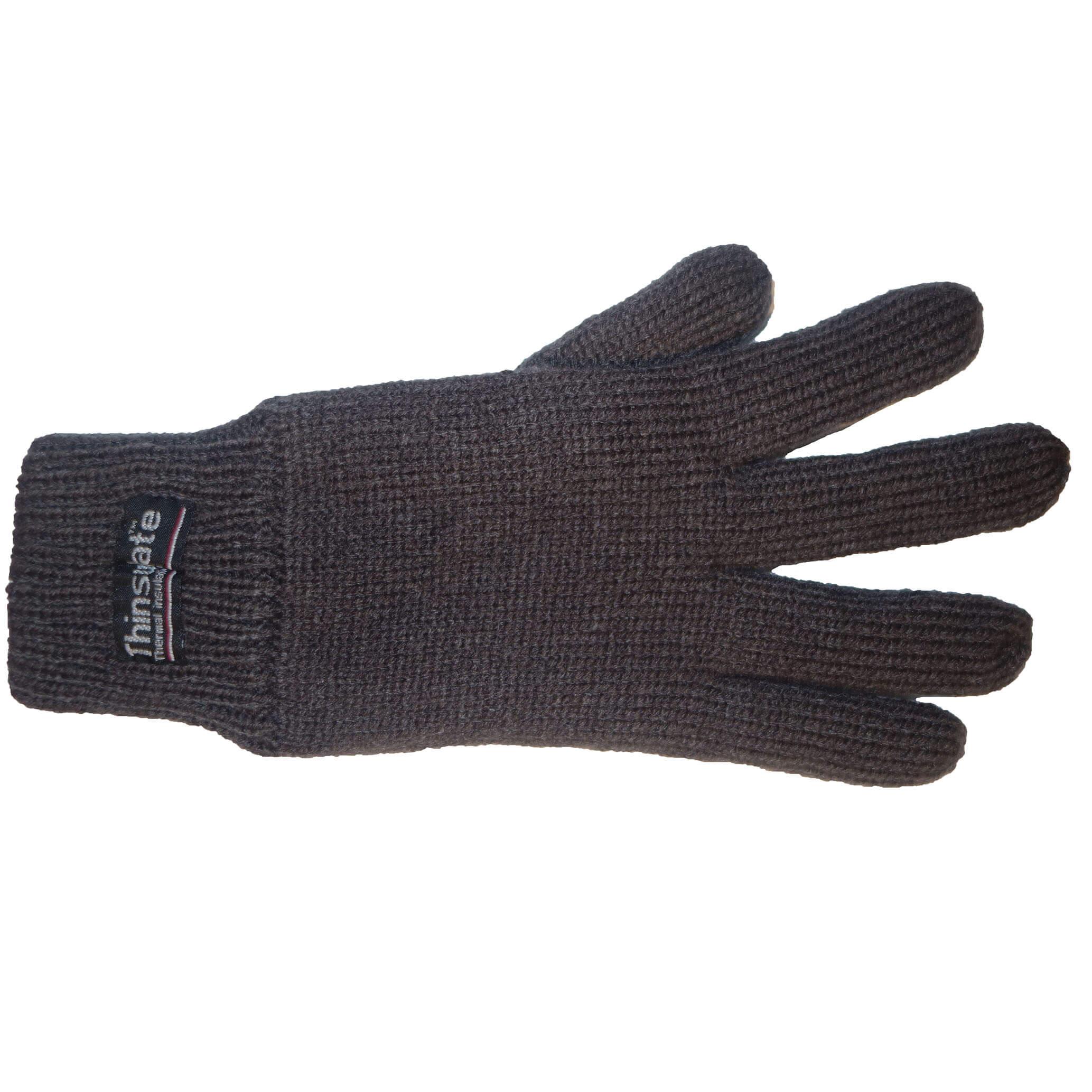 Thinsulate Handschoenen Grijs/Bruin S/M-0
