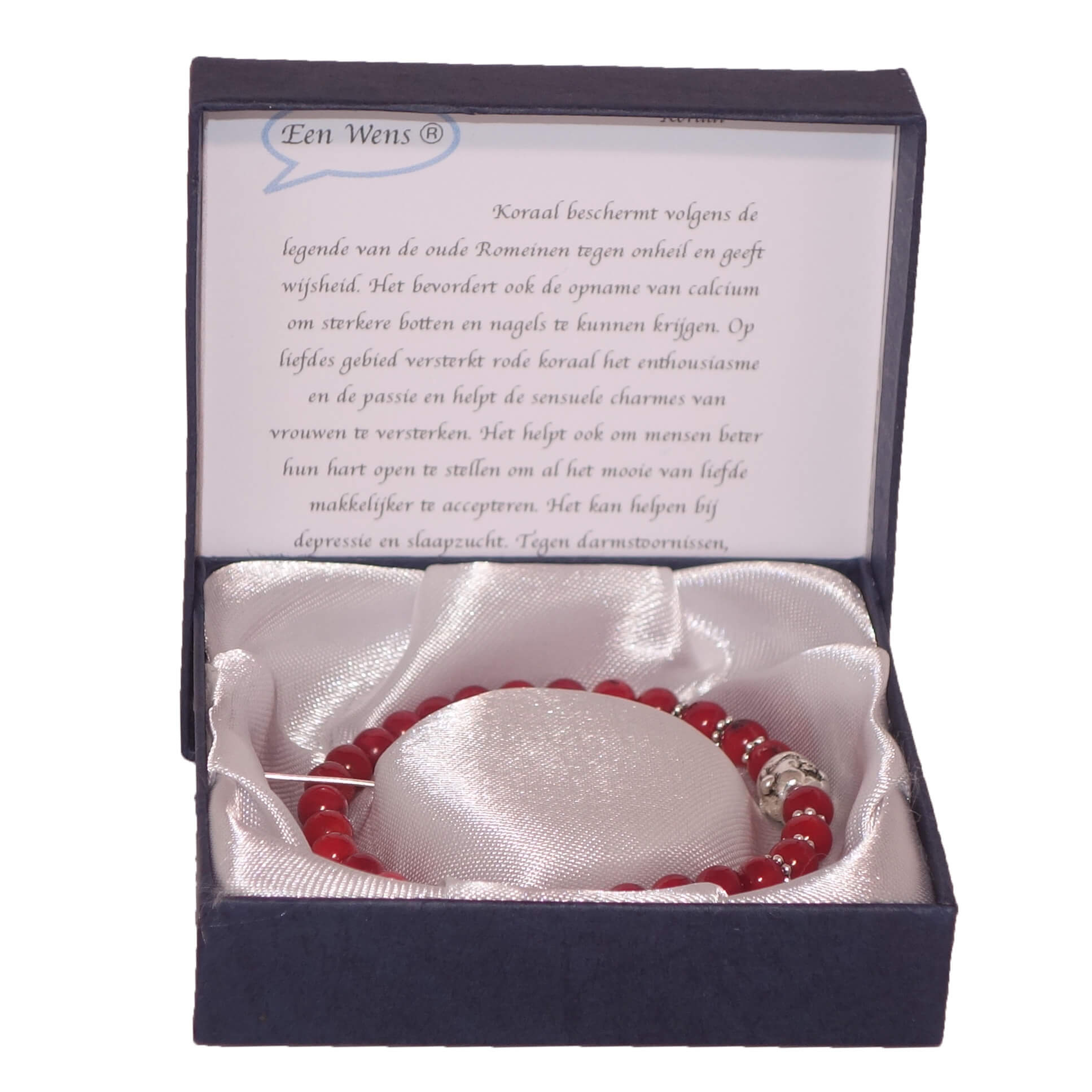 Halfedelstenen Armband in Geschenkdoos Koraal-0