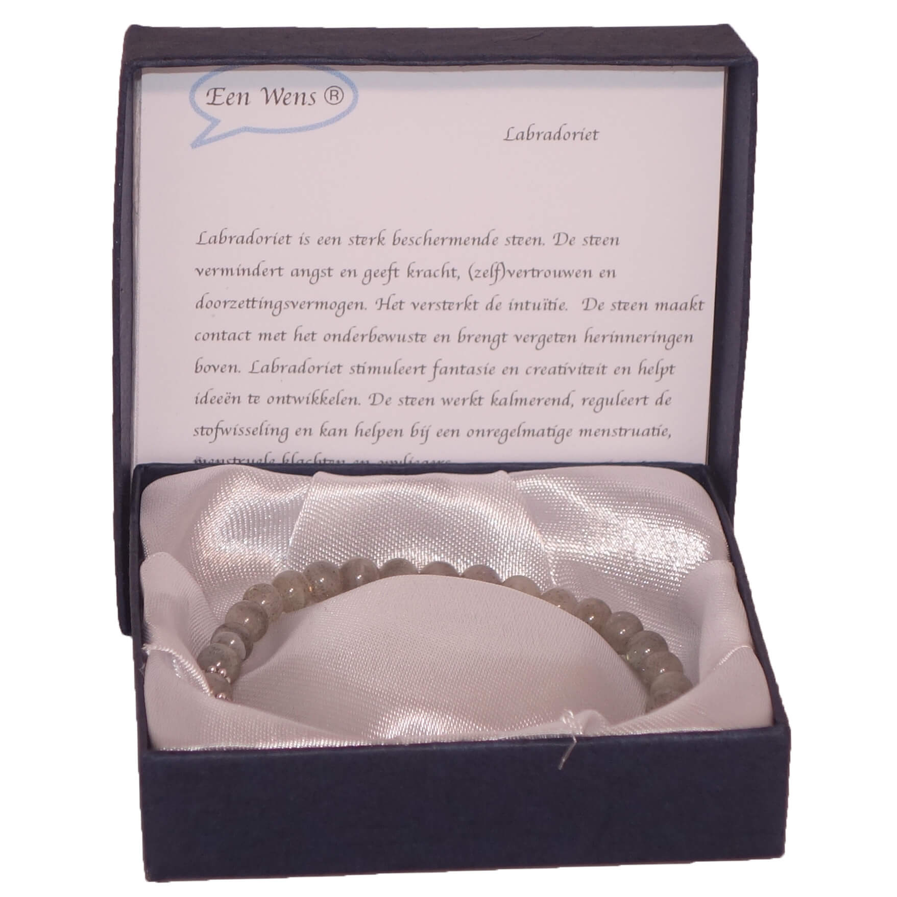 Halfedelstenen Armband in Geschenkdoos Labradoriet-0