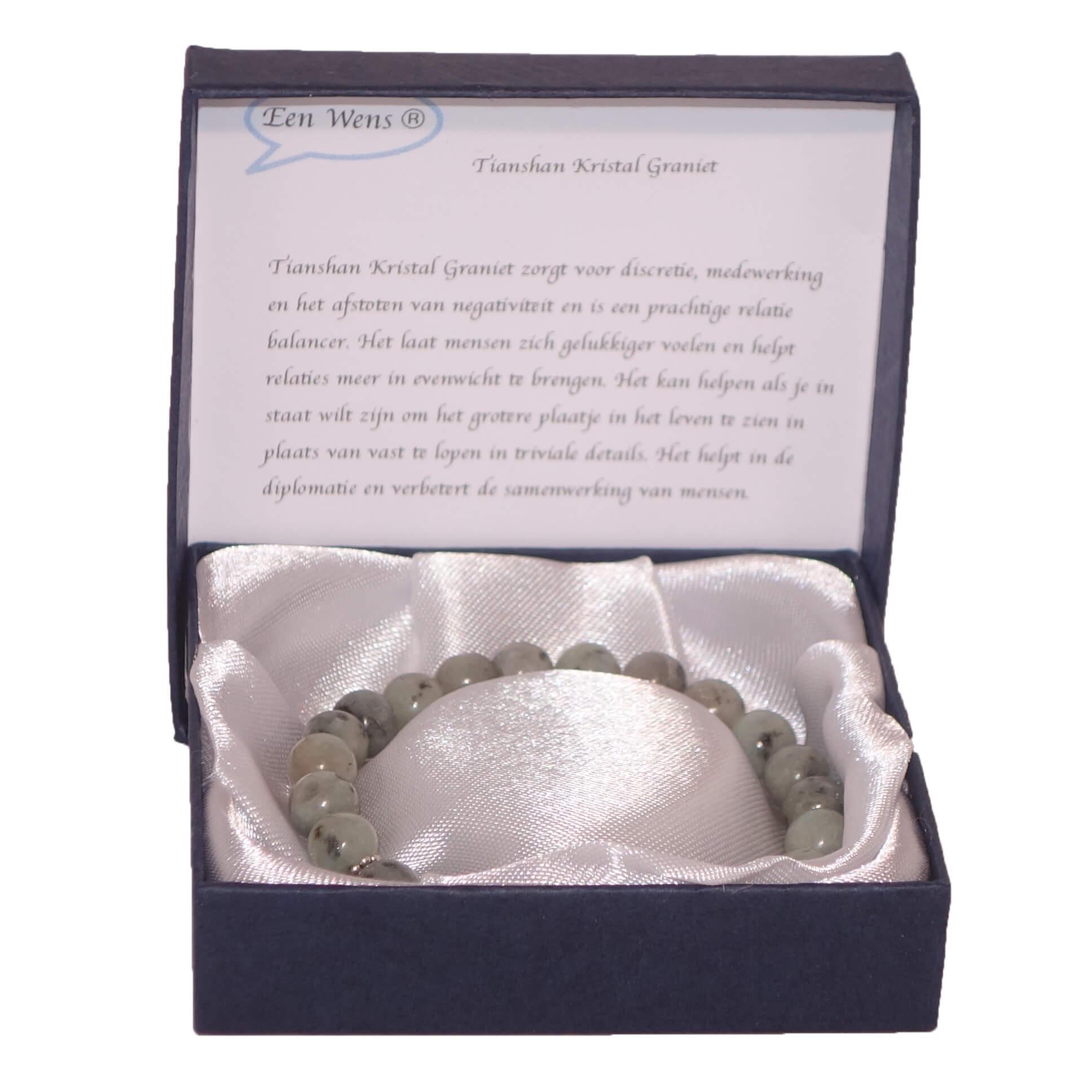 Halfedelstenen Armband in Geschenkdoos Tianshan Kristal Graniet-0