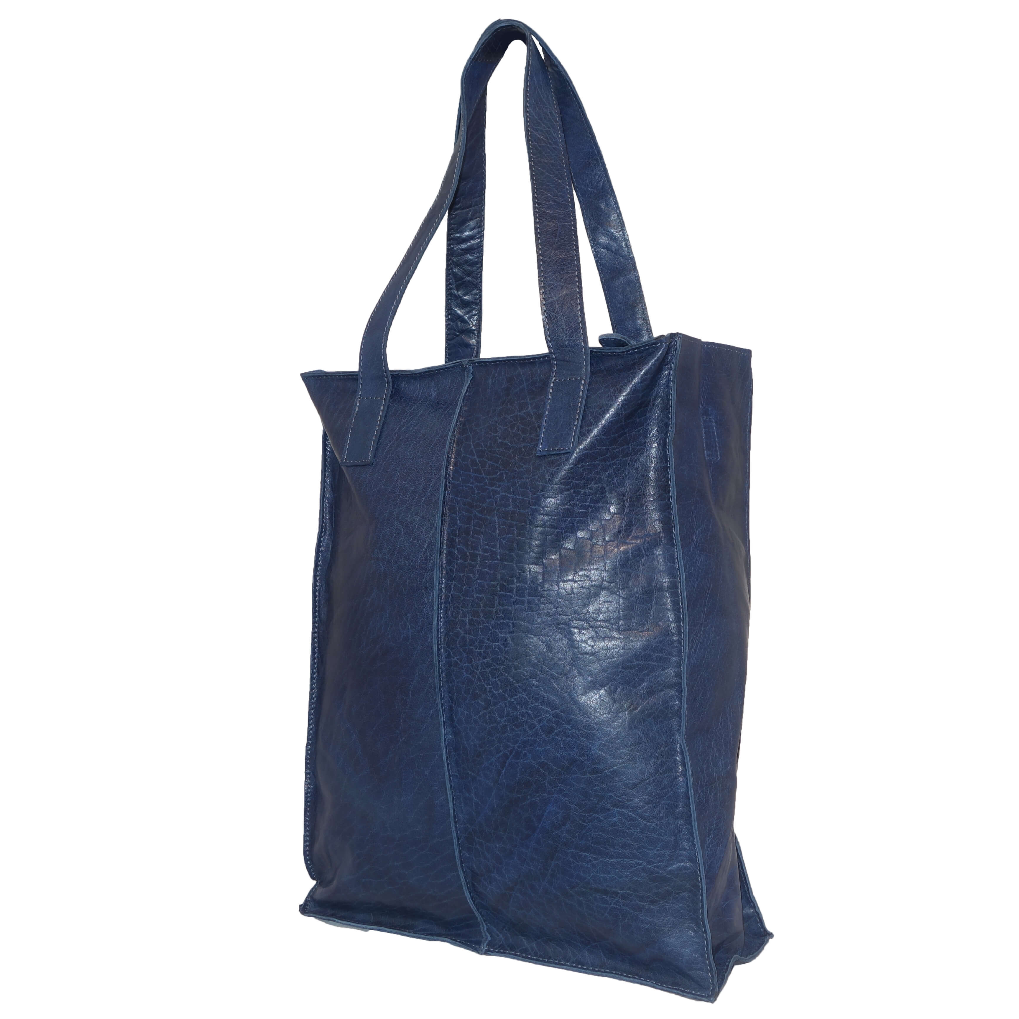 Echt Leren Justified Shopper Blauw-7212