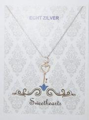 Sweethearts Echt Zilveren Bedel Hartsleutel 2