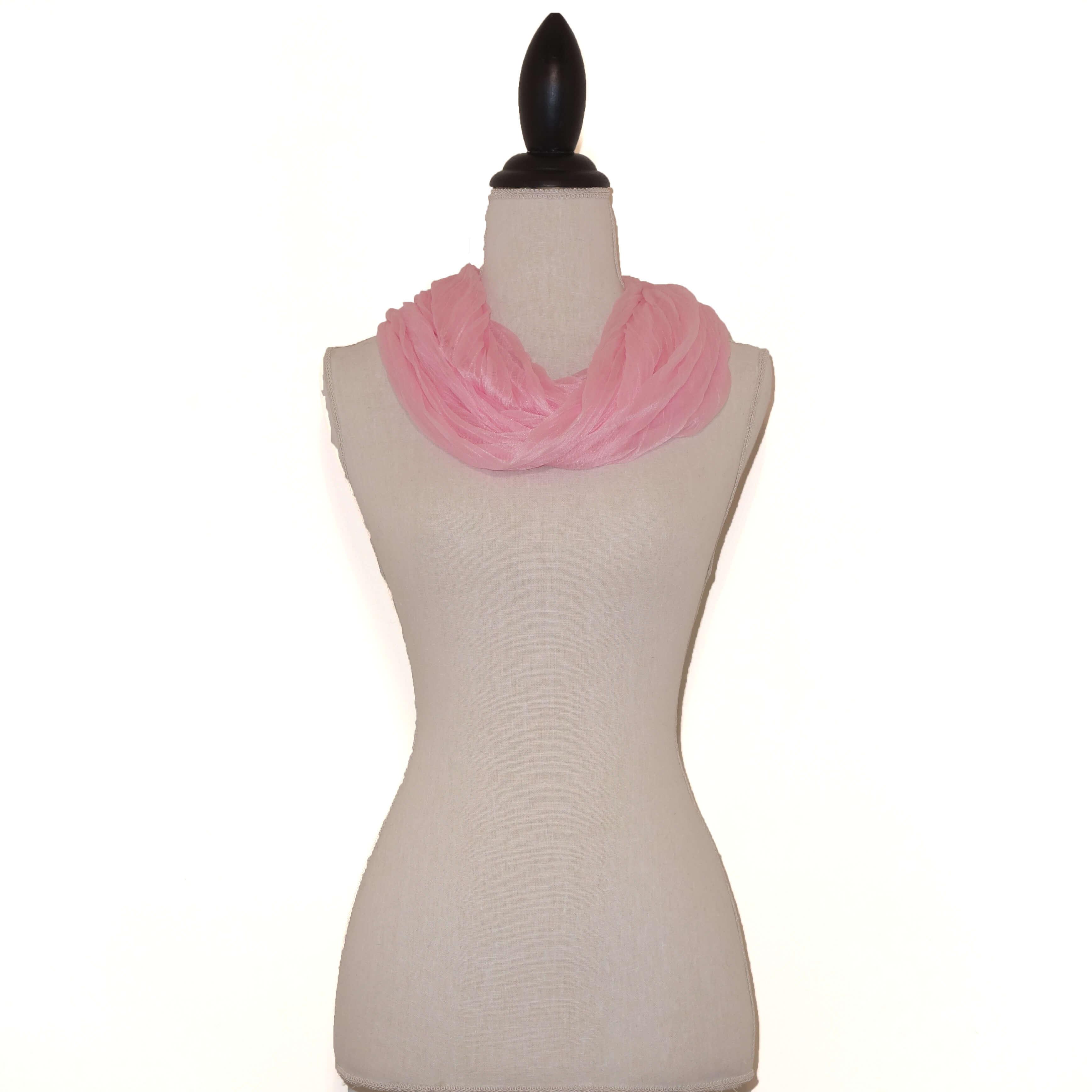 Roze Effen Colsjaal-0