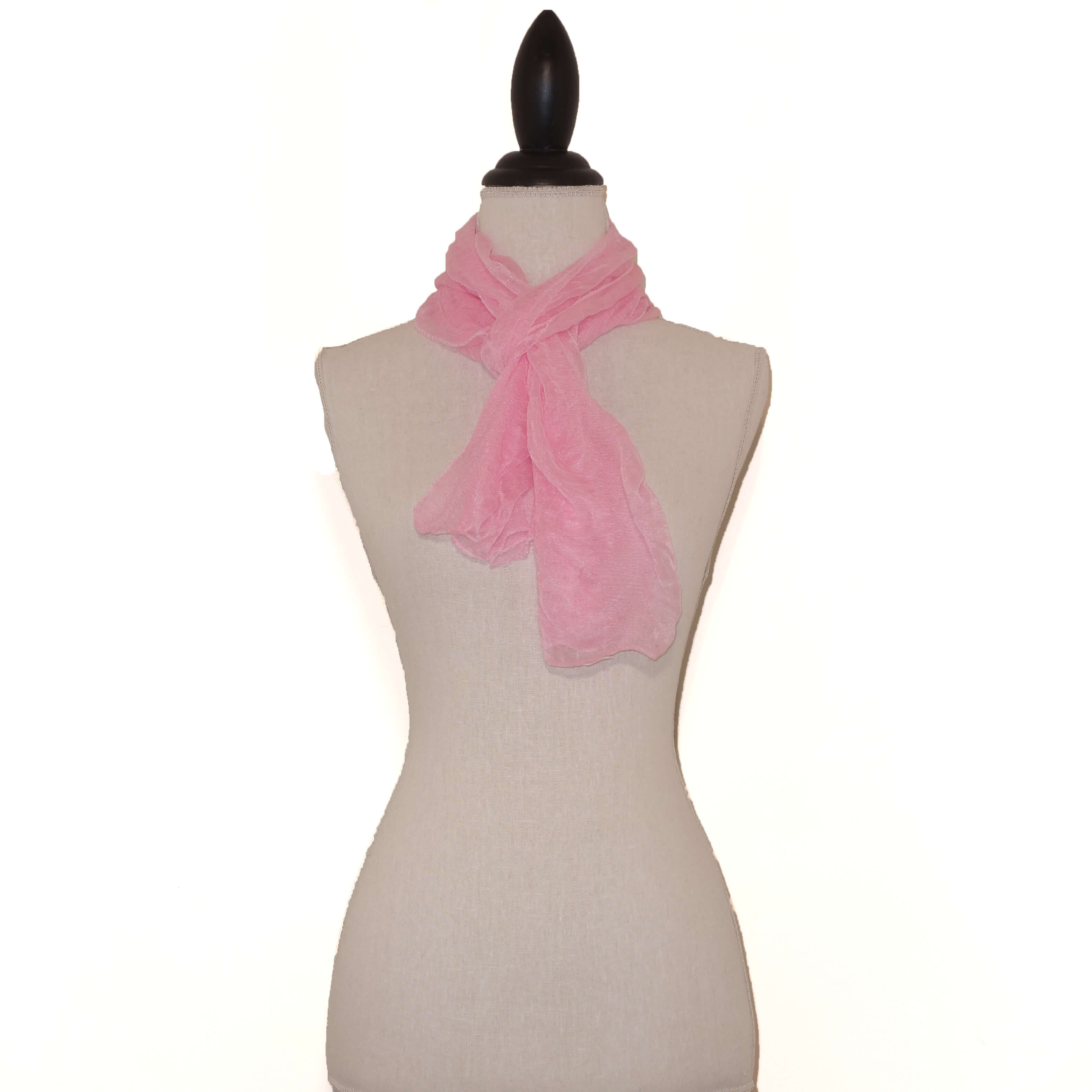 Roze Effen Langwerpige Sjaal-0