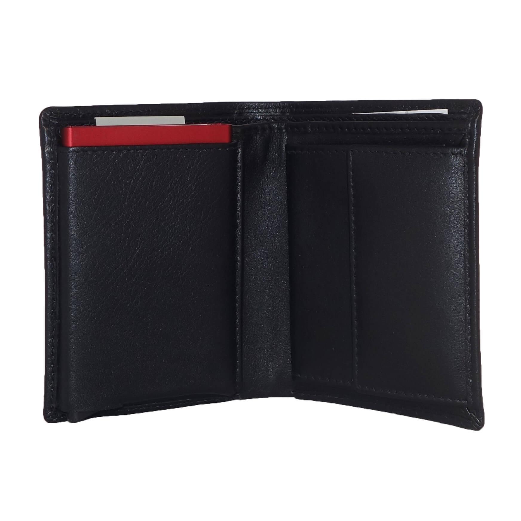 e788e07ee30 ... Leather Design Portemonnee met Secrid Cardprotector Vak Zwart-7334 ...