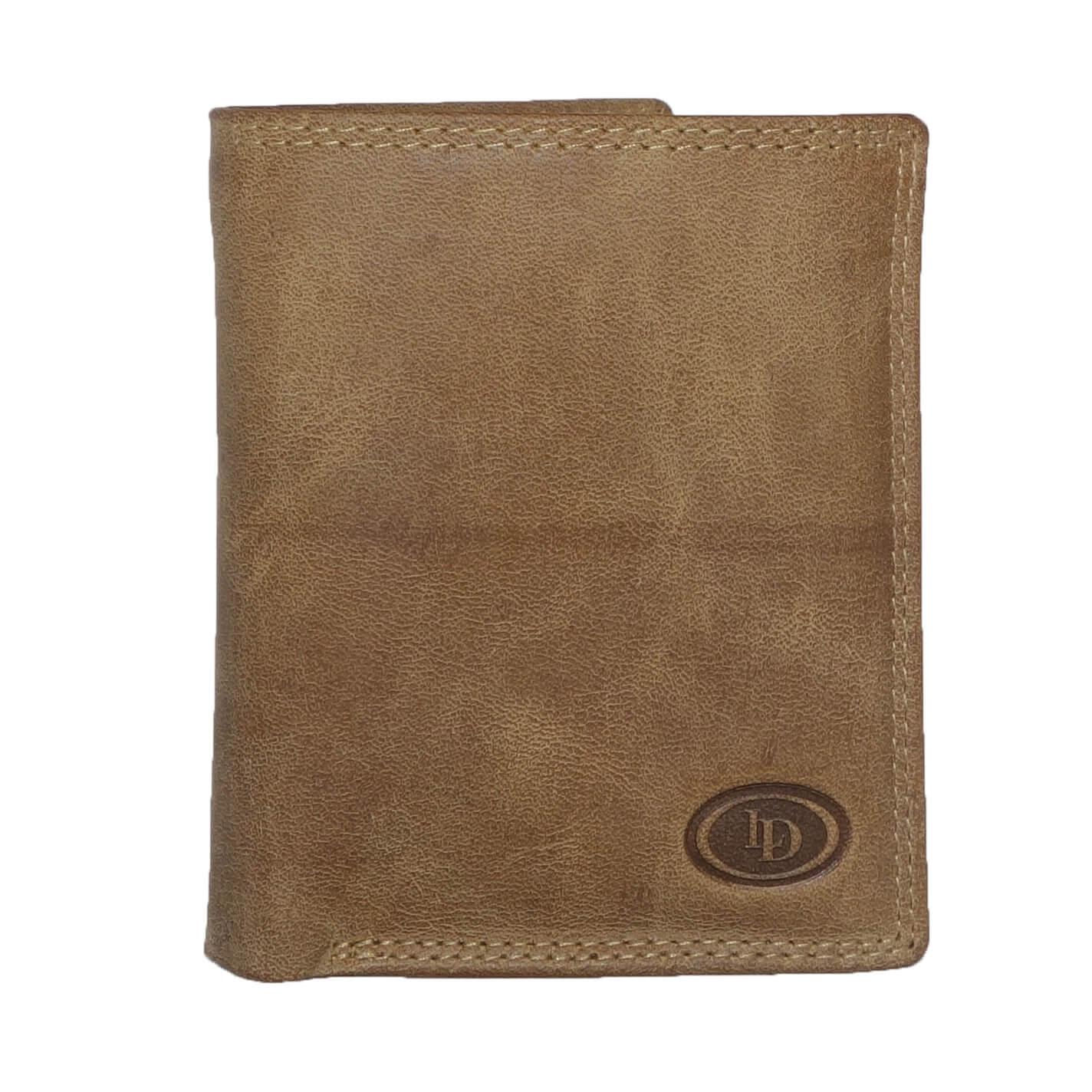 Leather Design Portemonnee met Secrid Cardprotector Vak Bruin-0