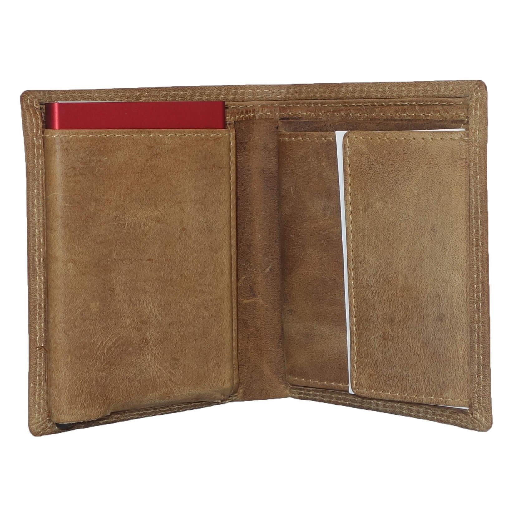 Portemonnee Design.Leather Design Portemonnee Met Cardprotector Vak Bruin Kopen
