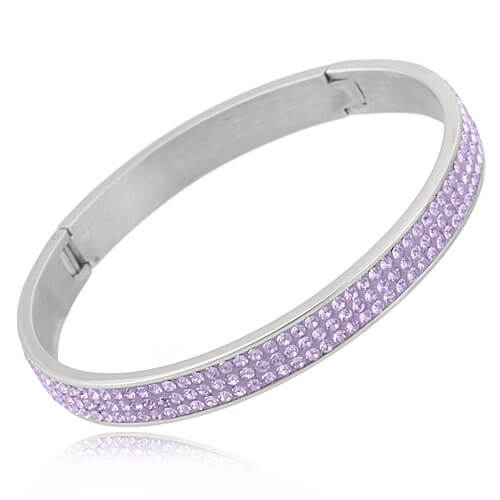 Just Crystals Edelstaal Armband 28-AB Lichte Amethyst-0
