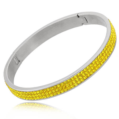 Just Crystals Edelstaal Armband 28-AB Geel-0