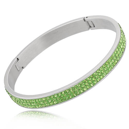 Just Crystals Edelstaal Armband 28-AB Peridot-0