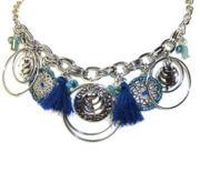 Lilly & June Ketting Charms Blauw