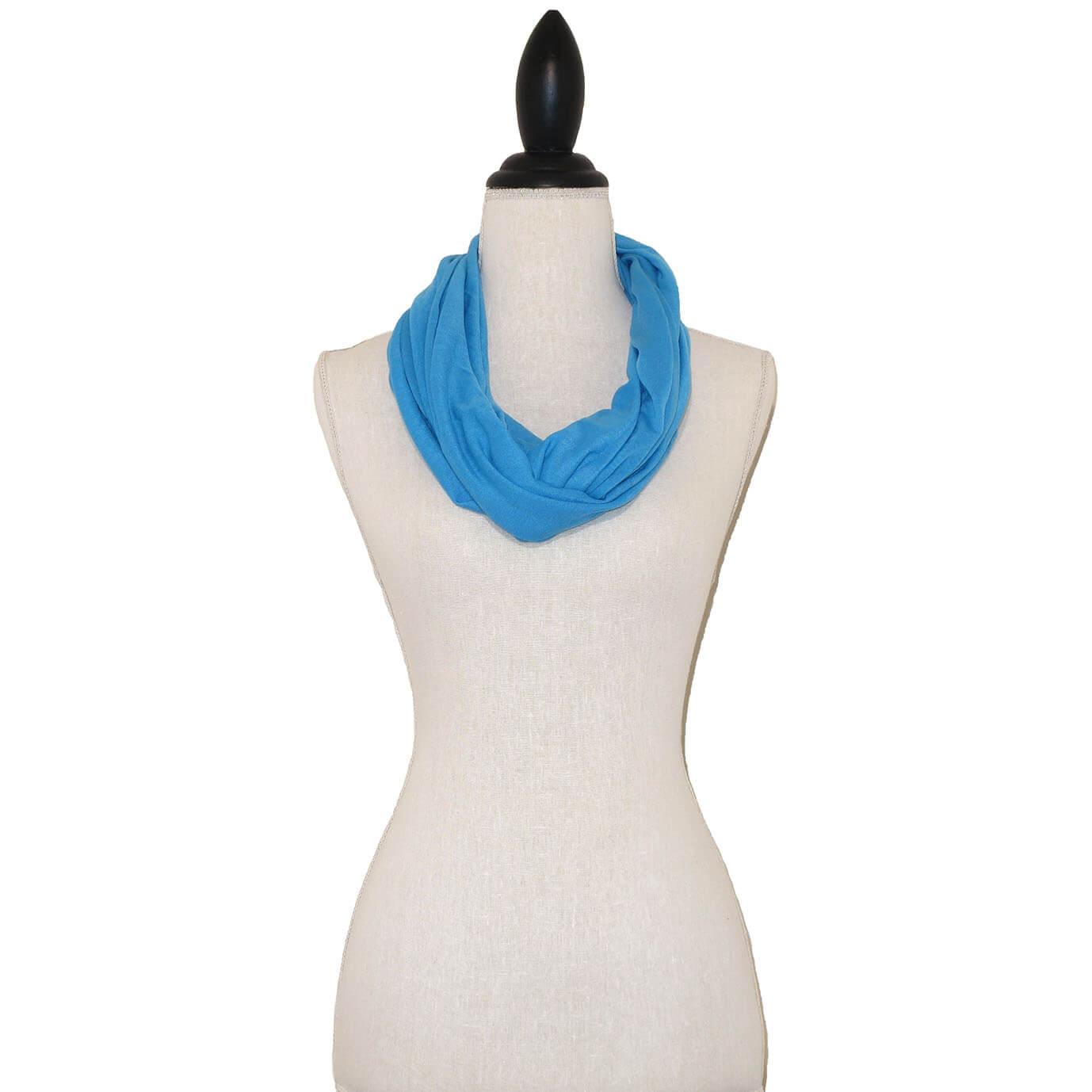 Aqua Blauwe Tricot Colsjaal-0