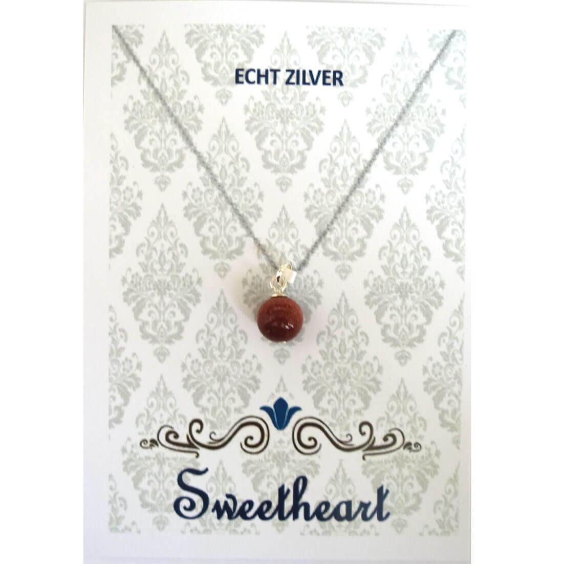 Sweethearts Bedel Stenen Bolletje Rood-0