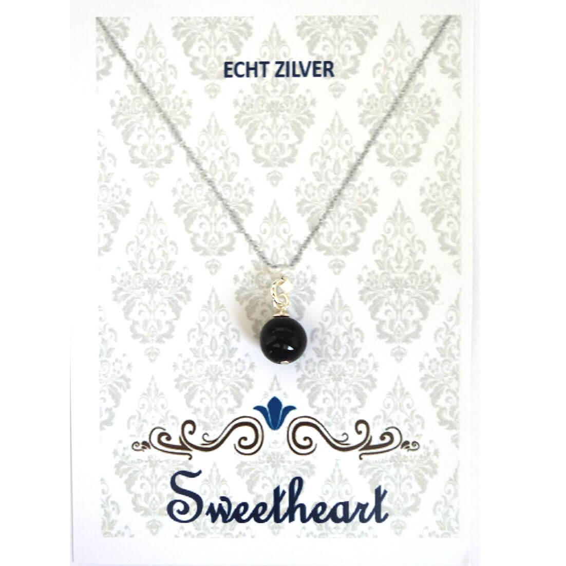 Sweethearts Bedel Stenen Bolletje Zwart -0