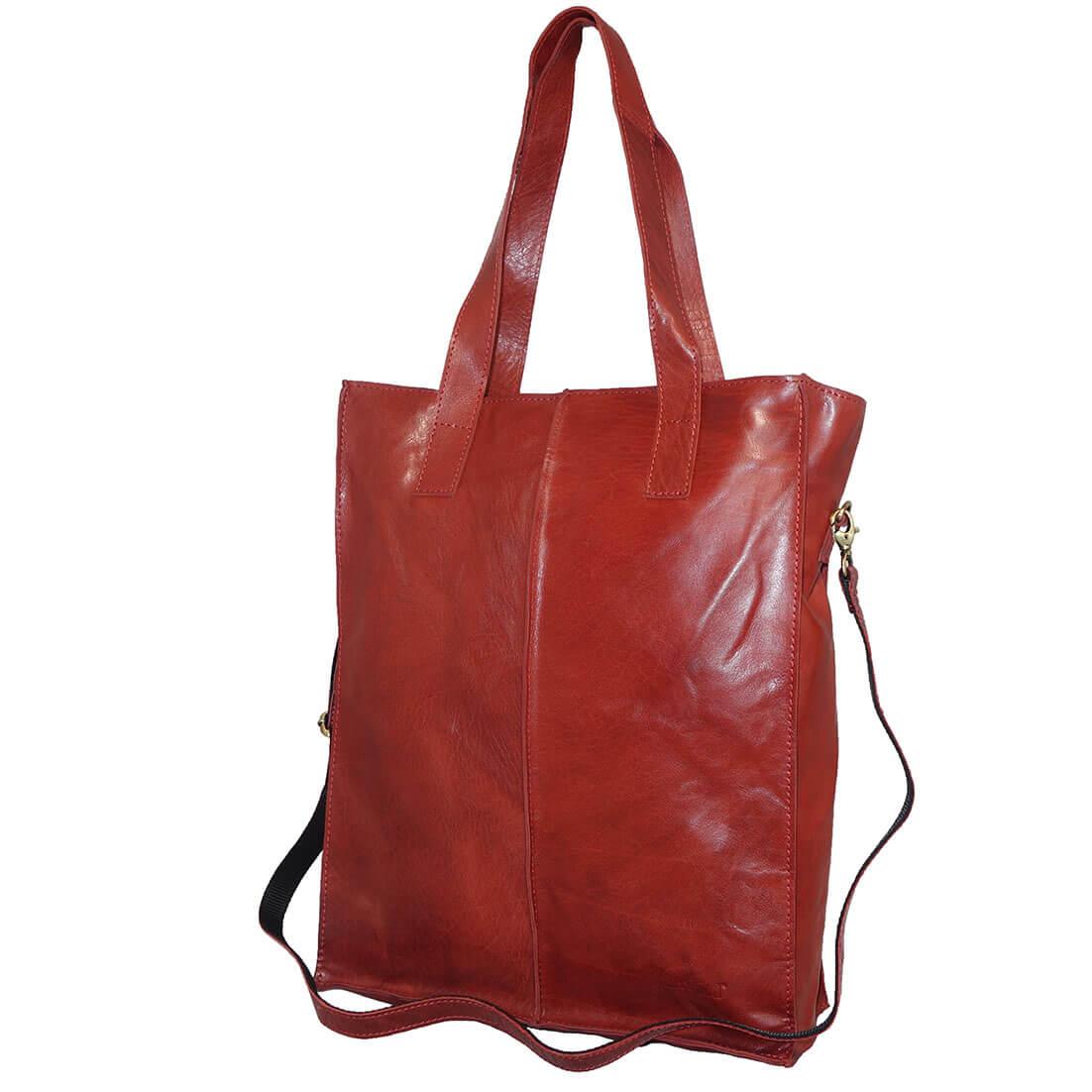 Echt Leren Justified Shopper Rood-11139