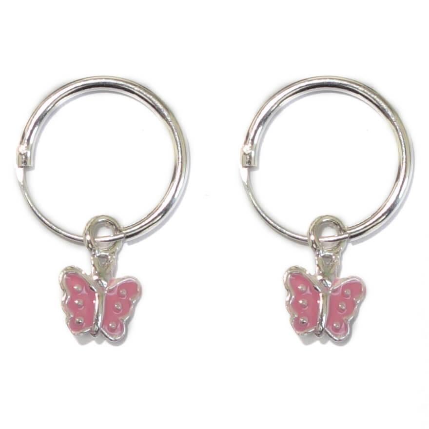 Kinder Hangoorbellen Vlinder Roze-0