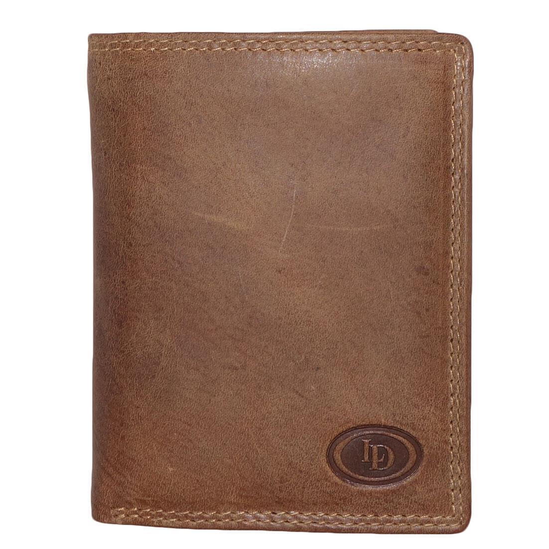 Portemonnee Design.Leather Design Portemonnee Met 2 Cardprotector Vakken Bruin Online Kopen