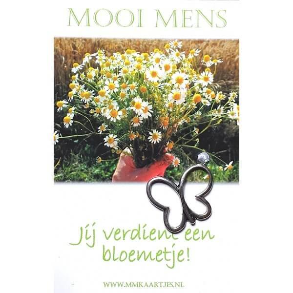 Mooi Mens Wenskaartje Jij Verdient Een Bloemetje!-0